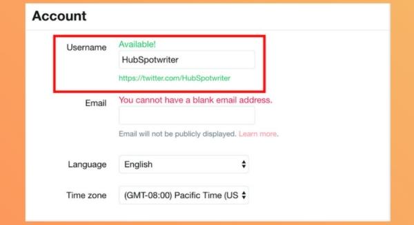 آموزش طریقه تغییر آیدی توییتر در وبسایت