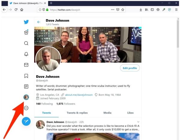 آموزش تغییر نام در توییتر وبسایت