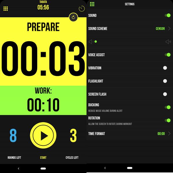 تایمر ورزشی اندروید، Timer Plus