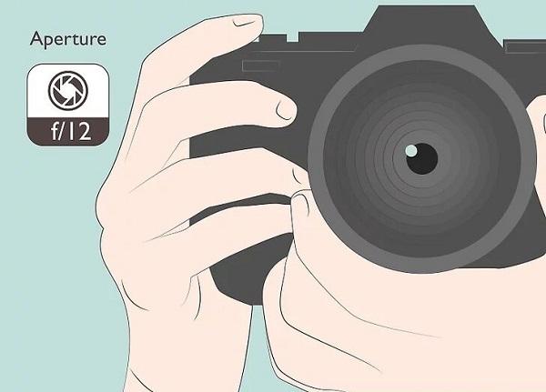 تنظیم دهانه دوربین، از ایده های عکاسی با موبایل