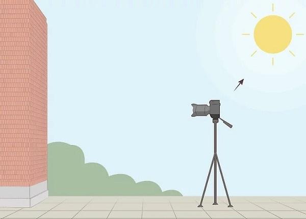 عکاسی با خورشید در پشت دوربین یکی از ترفند های عکاسی با وسایل ساده