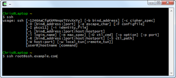 اجرای دستور SSH در لینوکس