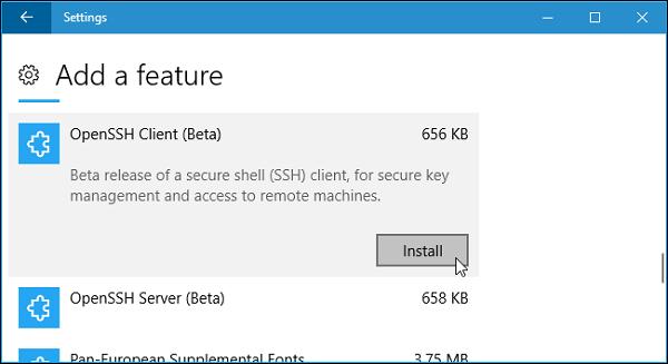 راه اندازی SSH در ویندوز 10