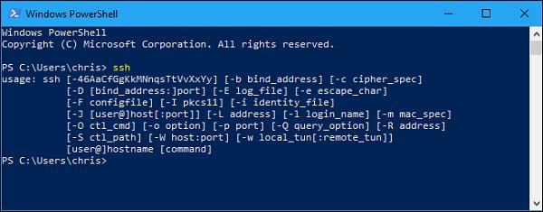 آموزش SSH در ویندوز و دستور SSH در CMD