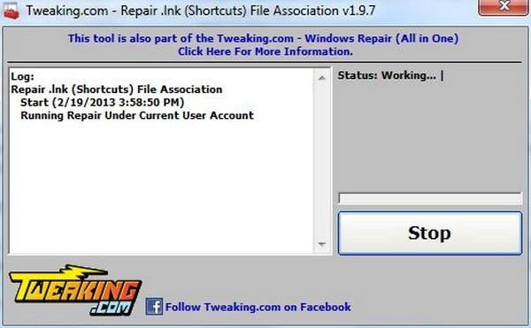 حل مشکل فایل با پسوند .lnk