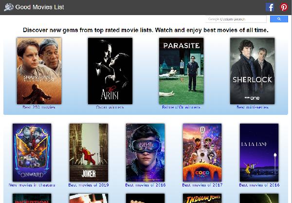 فیلم های برتر سینمای جهان در سایتGood Movies List