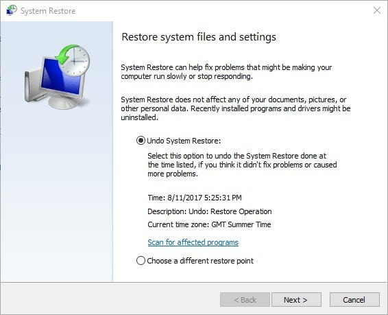 حل مشکل windows photo viewer در ویندوز 7 با System Restore Tool