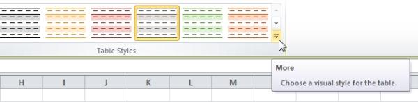 تغییر ظاهر جدول در اکسل (ویرایش جدول در اکسل)