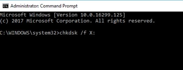 آموزش رفع ارور 0x80070570 با بررسی هارد با دستورات Command Prompt