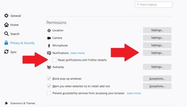 قطع نوتیفیکیشن فایرفاکس (چگونه نوتیفیکیشن فایرفاکس را ببندیم)