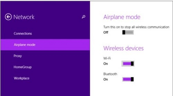 فعال کردن وای فای لپ تاپ acer و.. در ویندوز 8 و 8.1