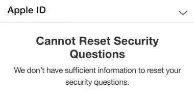 رفع Cannot Reset Security Questions اپل آیدی