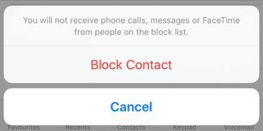 بلاک اس ام اس و تماس در آیفون