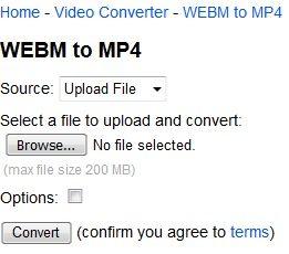 نحوه تبدیل فرمت WEBM به MP4 با سایت onlineconverter.com