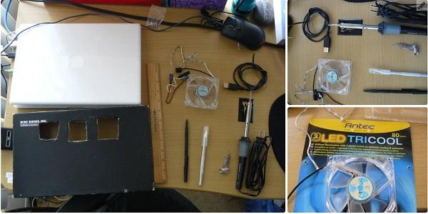 آموزش ساخت خنک کننده لپ تاپ در خانه با کارتن و فن