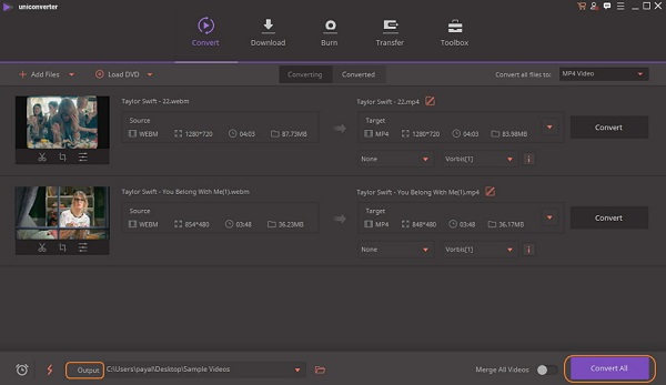 نرم افزار تبدیل WEBM به MP4 آنلاین