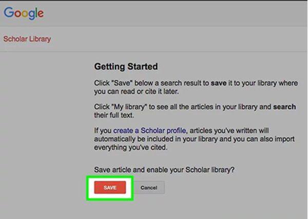 نحوه Save کردن مقاله از گوگل اسکولار