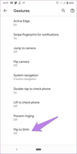 غیر فعال کردن Flip to Shhh فقط برای گوشی های Pixel