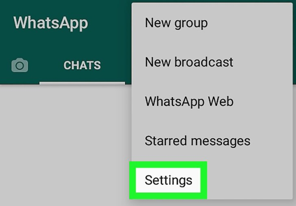 تغییر عکس تصویر زمینه واتساپ در اندروید