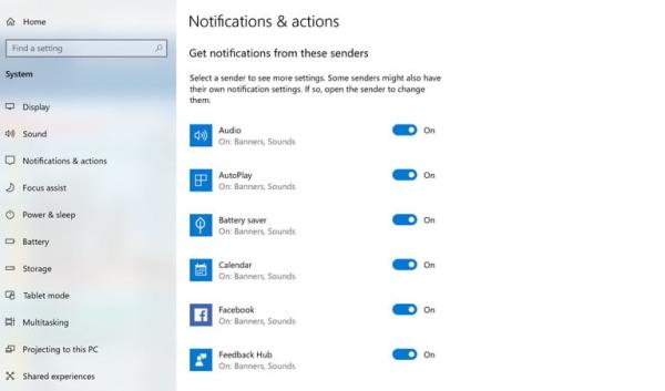 شخصی سازی نوتیفیکیشن ها بر اساس هر برنامه برای بلاک اعلان های ویندوز 10