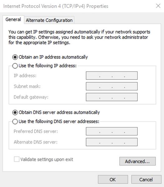 علت وصل نشدن مودم به اینترنت؟ رفع آن تنظیم IP و DNS به صورت خودکار