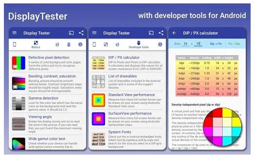 برنامه Display Tester