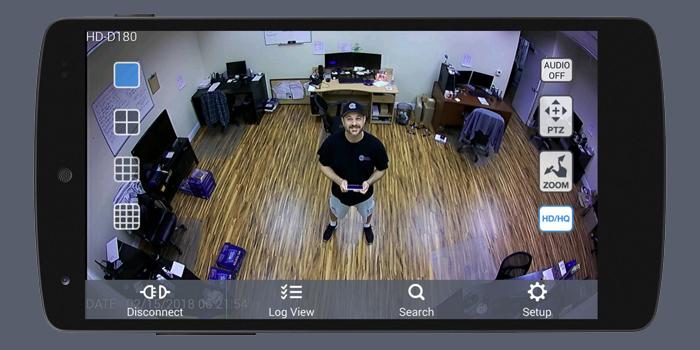 آموزش تصویری انتقال تصویر دوربین مداربسته روی گوشی اندروید