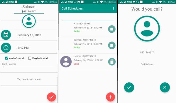 برنامه زمانبندی تماس اندروید Auto Call Scheduler