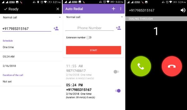 نرم افزار تماس در زمان تعیین شده Auto Redial