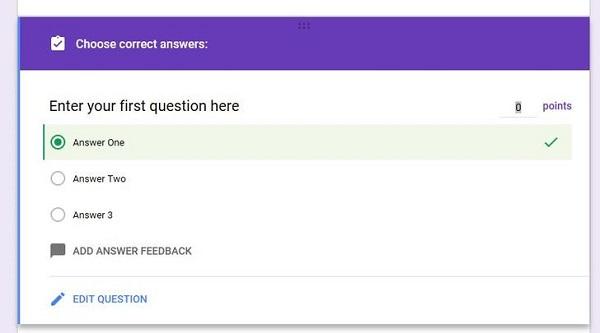 تبدیل فرم به آزمون و ادامه ساخت آزمون در گوگل فرم