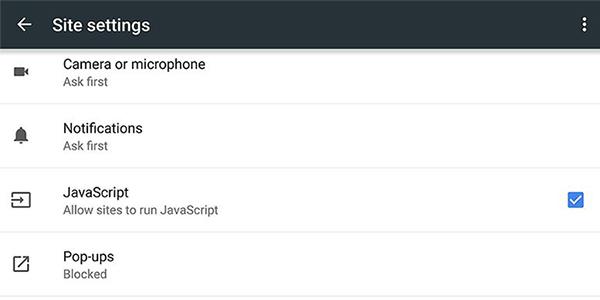 برای افزایش سرعت مرورگر گوگل کروم جاوا اسکریپت را غیرفعال کنید