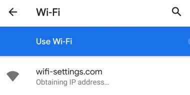 حل مشکل پیغام خطای Failed To Obtain IP Address اندروید