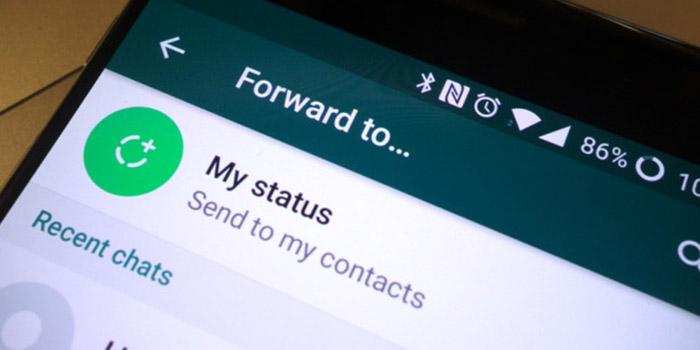 رفع مشکل گذاشتن و ارسال استوری در واتساپ
