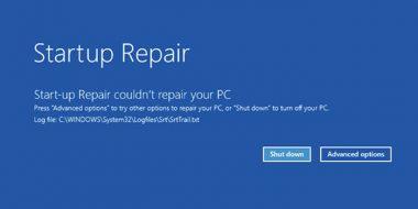 رفع مشکل پیغام Startup Repair ویندوز 10 ، 8 و 7