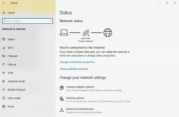 ریست تنظیمات وای فای در ویندوز 10