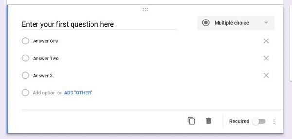طراحی سوال در گوگل فرم