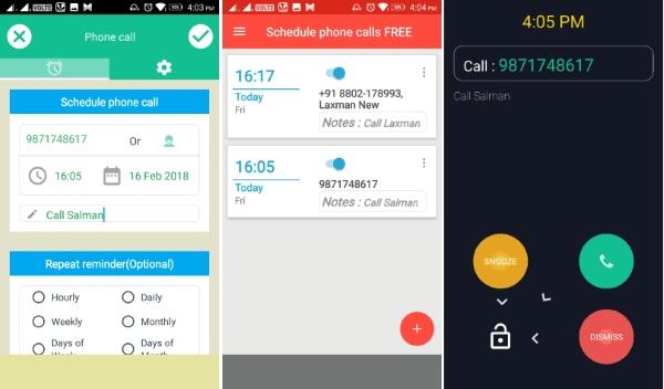 نرم افزار تماس در زمان مشخص Schedule Phone Calls