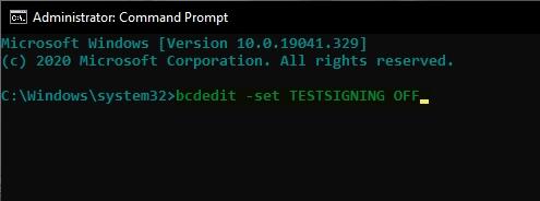 حذف Test Mode ویندوز 10