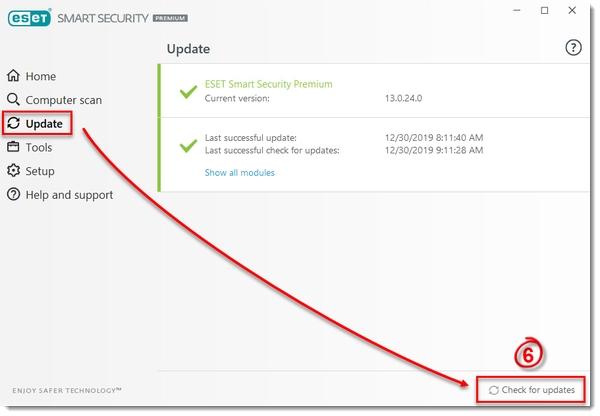 حذف حافظه کش آپدیت برنامه برای رفع مشکل آپدیت نشدن آنتی ویروس nod32
