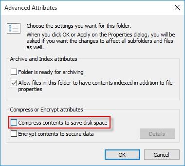 فشرده کردن با این روش یا خارج کردن برای از بین بردن دو فلش آبی رنگ در کنار فایلها files