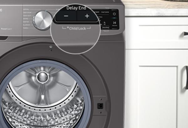چگونه قفل کودک ماشین لباسشویی سامسونگ را باز کنیم