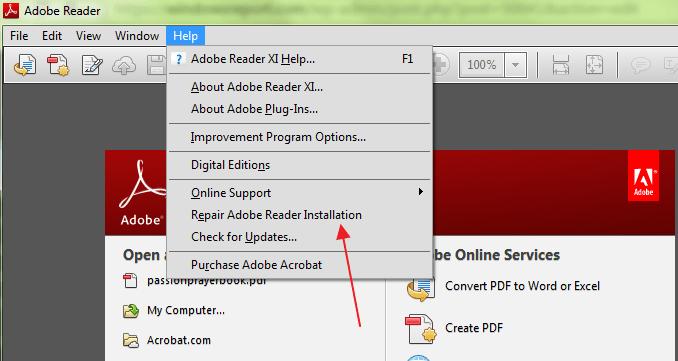 باز نشدن فایل PDF در ادوب ریدر