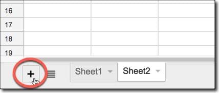 ایجاد جدول در گوگل شیت (ایجاد، حذف، تغییرنام جدول ها)