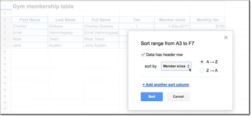 آموزش مربط سازی داده ها در گوگل شیتس