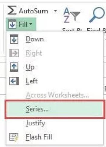 تنظیمات auto fill در اکسل