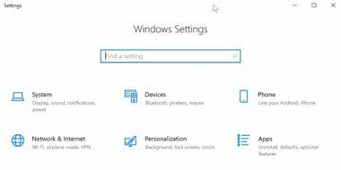 حل مشکل باز نشدن و بالا نیامدن تنظیمات ویندوز 10 (Windows Setting)