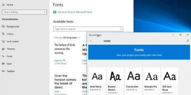 تنظیمات و نصب فونت در ویندوز 10 ، 8.1 و 7