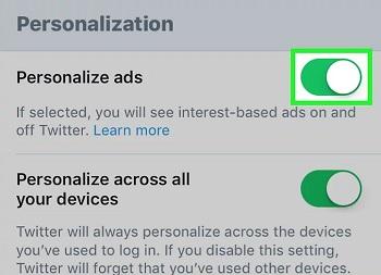 حذف تبلیغات شخصی شده در آیفون و آیپد