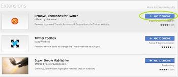 عدم نمایش توییت های تبلیغاتی توییتر