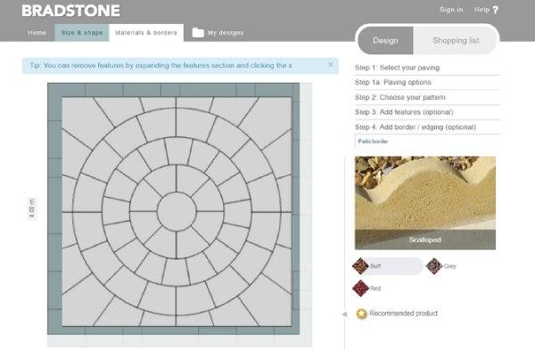 سایت طراحی داخلی با Bradstone Paving Planner